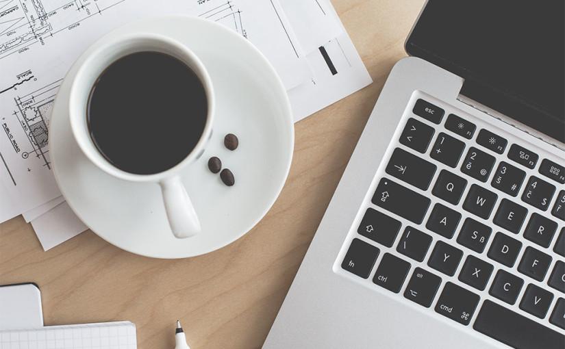 Morning Black Tea with MacBook