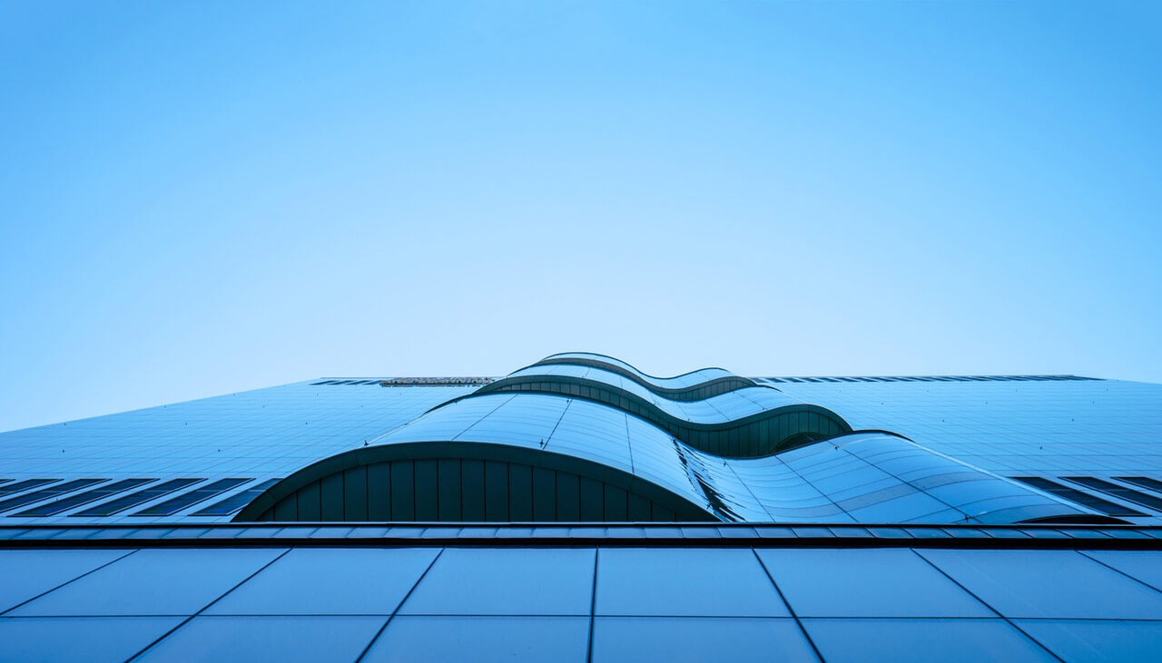 Blue Glass Structure
