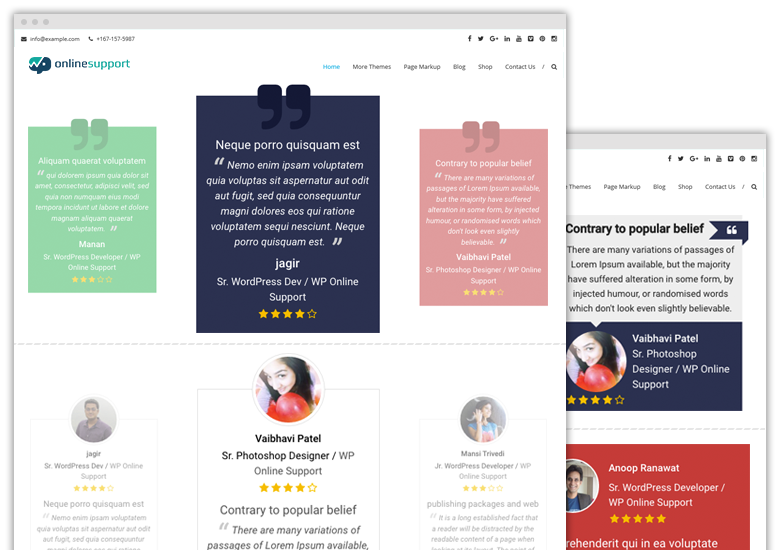 Pro Testimonials with rotator widget
